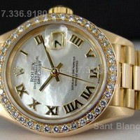 ROLEX - Ladies DIAMOND President Mother Of Pearl 69138 SANT BLANC