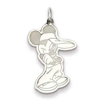 Sterling Silver Disney Mickey Charm WD122SS