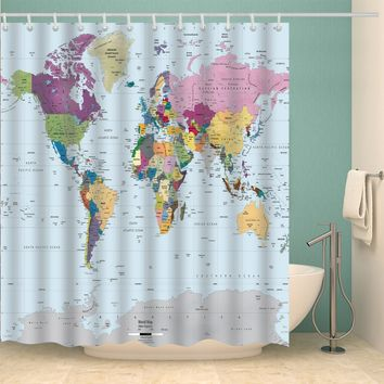 Best World Map Shower Curtain Products on Wanelo