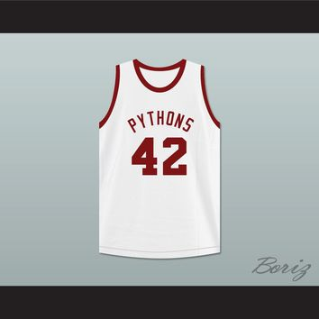 Reverend Grady Jackson 42 Pittsburgh Pythons Basketball Jersey The Fish That Saved Pittsburgh