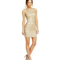 Sequin Hearts Sequin Pattern Sheath Dress | Dillards