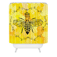 Lisa Argyropoulos Queen Bee Shower Curtain