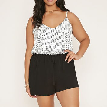Plus Size Combo Romper | Forever 21 PLUS - 2000186145