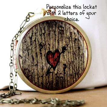 Locket Personalized Necklace Image Locket by MStevensonDesigns