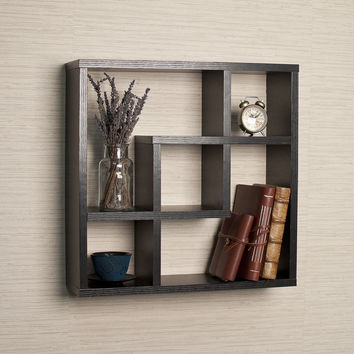 Danya B Geometric Square  Wall Shelf with 5 Openings