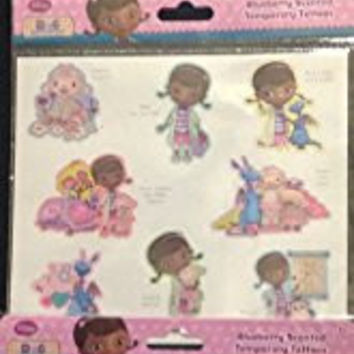 Doc Mcstuffins Blueberry Scented Temporary Tattoos (3) 8 Pieces (24 Tattoos)