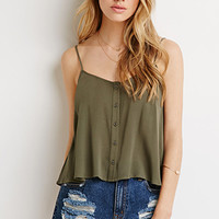Button-Front Gauze Cami