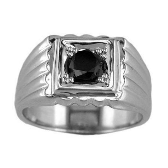 Mens Engagement Ring Mens Black Diamond from Tempting Jewels