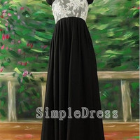 A-line Sweetheart Sleeveless Floor-length Chiffon Tulle Fashion Cheap Prom Dress / Evening Dress 2013  With Applique Beading
