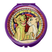 Disney The Lion King Stained Glass Circular Hinge Mirror