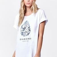 Diamond Supply Co 101 Carats Short Sleeve T-Shirt - Womens Tee - White