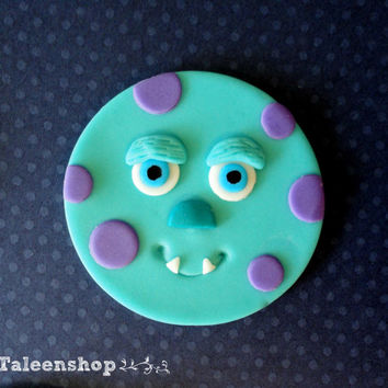 Monster Inc. cupcake toppers /fondant
