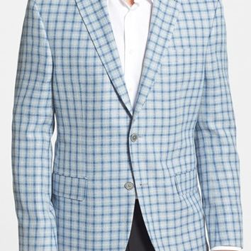 Men's David Donahue 'Carey' Classic Fit Check Sport Coat