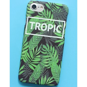 LEAF GREEN PhoneX tropical rainforest banana LEAF frosted ins GREEN plant iPhone6s cellphone case