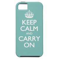 Keep Calm And Carry On Mint Pattern iPhone 5 Cases