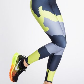 Ultra Elite Terra Print Legging in Neon Green by Ultracor | Bottoms | BANDIER