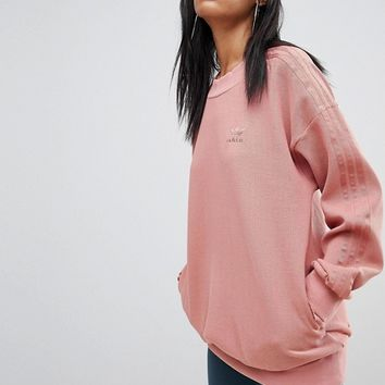 adidas Originals Sweatshirt In Raw Pink at asos.com
