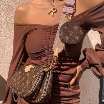 shosouvenir  Louis Vuitton LV Crossbody Shoulder Bag Set