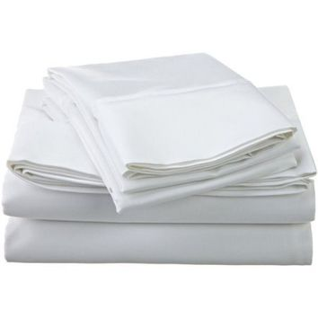 Scala Hotel Luxury Bedding 1800 Series Platinum Collection 4pc Sheet Sets - Deep Pocket, Wrinkle and Fade Resistant, Breathable Brushed Microfiber- Queen White Solid Sheet Set - Walmart.com
