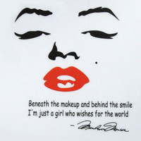 Marilyn Monroe Quote Face Red Lip Wall Decal