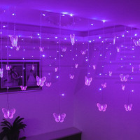 Multicolor LED String Strip Holiday Christmas Light Garlands 3.5m 16 Butterfly 100 SMD EU/US/UK/AU PARTY Wedding Lamp Alternative Measures