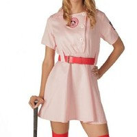 Rockford Peaches AAGPBL Pink Baseball  Womens Costume Dress - A League of Their Own  - | TV Store Online