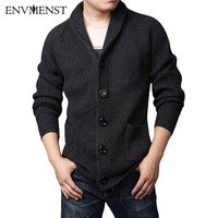Brand Clothing Thicken Men's Cardigan Sweaters