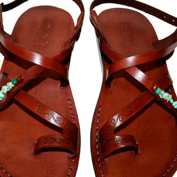 Brown Decor Roxy Leather Sandals for Men & Women