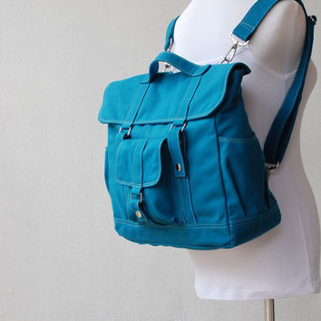 Christmas in July SALE - Pico2 Back Pack  in Dark Teal (Water Resistant Insulated) - Unisex Convertible / Satchel / Messenger Bag