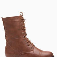 Tan Faux Leather Lace Up Combat Boots @ Cicihot Boots Catalog:women's winter boots,leather thigh high boots,black platform knee high boots,over the knee boots,Go Go boots,cowgirl boots,gladiator boots,womens dress boots,skirt boots.
