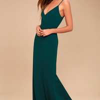 Infinite Glory Forest Green Maxi Dress