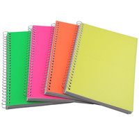 Bulk Spiral Notebooks with Neon Plastic Covers, 5x7 in. at DollarTree.com