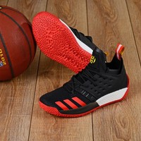KUYOU A156 Adidas James Harden Vol.2 Boost Training Basketball Shoes Black Red Yellow