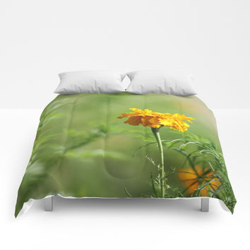 Simple Treasure In Gold Comforters by Theresa Campbell D'August Art