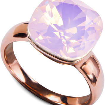 Isabel Rose Water Opal - Made from Swarovski Crystal Elements Ring