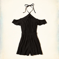 Girls Ruffle Cold Shoulder Romper | Girls Dresses & Rompers | HollisterCo.com
