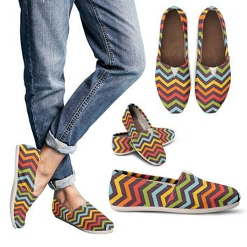 Bright Chevron Casual Shoes