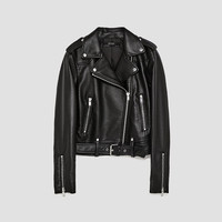 FAUX LEATHER BIKER JACKET - JACKETS-WOMAN | ZARA United Kingdom