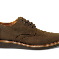 TOMS Chocolate Aviator Twill Men's Brogues Brown