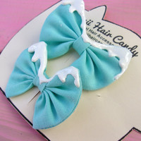 Kawaii Hair Bows-  Sweet Lolilta Hair Bows- Pastel Goth Hair Bow- Stocking Stuffer For Kids- Girls Hair Accessories- Girls Hair bows
