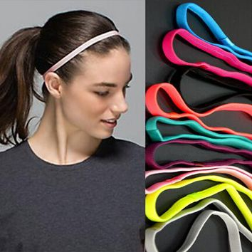 1pcs Thin Sports Elastic Headband Softball Hair Band Rubber Anti-Slip Women Hair Accessories Bandage Scrunchy