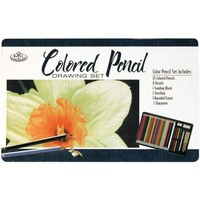Royal Brush Colored Pencil Drawing Tin, 36-Piece