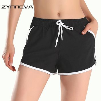 ZYNNEVA Hot Sale Yoga Running Shorts Women Gym Shorts Anti-emptied Lace-up Shorts Fake Two Loose Quick Dry Slim Shorts PB905