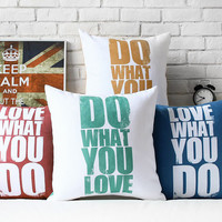 Love letter pillow cover decorative suede cushion cover