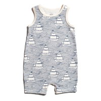 High Seas Navy Tank Romper by Winter Water Factory