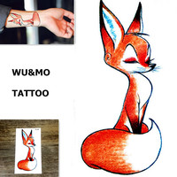 RC-392 Red Fox Body Art Sexy Harajuku Waterproof Temporary Tattoo For Man Woman Henna Fake Flash Tattoo Stickers WU&MO  NEW