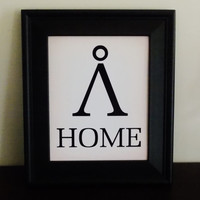 Fandom Home Print. Stargate Inspired Home Art. Typography Print.