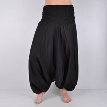Solid 3 in 1 Convertible Harem Pants -- Mexicali Blues