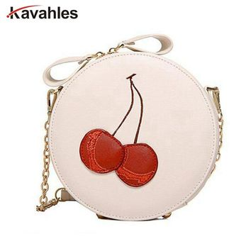 Round Women Bag Cherry Crossbody Shoulder Bags For Womens Ladies Cute Circular Women Messenger Bags sac a main bosla bag PP-387