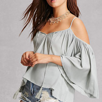 Draped Open-Shoulder Top